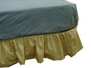 ベッドの上に寝具を敷く順番:ベッドパッドの上は、ボックスシーツ