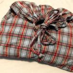 掛け布団カバーをリメイクして巾着小物入れ