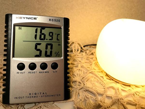 室温が分かる温度計があると便利です