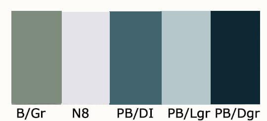 シックで知的な涼しさのイメージの色(小林,2000)