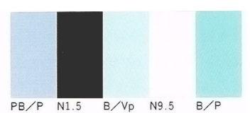 ひんやり感のあるイメージの色(小林,2000)