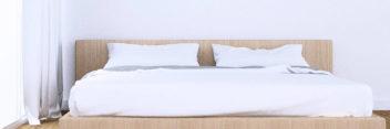 ワイドキング-シングル2台用サイズ-200cm幅 超長綿サテン織りボックスシーツ
